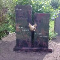 Staand monument Gebr. Ridder Grafmonumenten Bovensmilde eEn Lutten Eden Groep