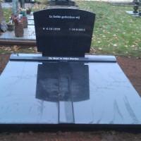 Dubbele grafstenen nr. D38 Gebr. ridder Grafmonumenten Bovensmilde en Lutten Eden Groep