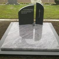 Dubbele grafstenen nr. D18 Gebr. Ridder Grafmonumenten Bovensmilde en Lutten Eden Groep