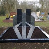 Dubbel grafstenen nr. D17 gebr. Ridder Grafmonumenten Bovensmilde en Lutten