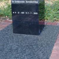 Urnmonument nr. U02 Gebr,. Ridder Natuursteen Bovensmilde en Lutten Eden Groep