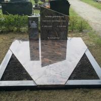 Dubbele grafstenen nr. D07 Gebr. Ridder Grafmonumenten Bovensmilde en Lutten Eden Groep