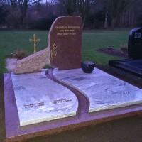 Dubbele grafsteen nr. D02 Gebr. Ridder Grafmonumenten Bovensmilde en Lutten Eden Groep